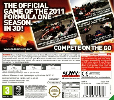 F1 2011 3DS backM (AF4P)
