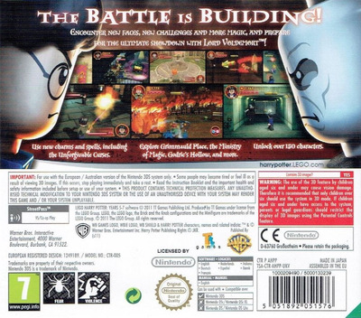 LEGO Harry Potter - Years 5-7 3DS backM (AHPP)