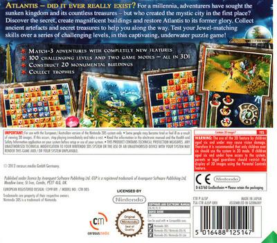 Jewel Link - Legends of Atlantis 3DS backM (AJ5P)