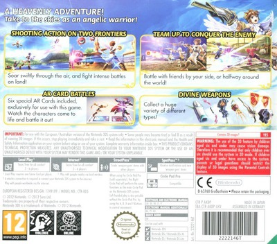 Kid Icarus - Uprising 3DS backM (AKDP)
