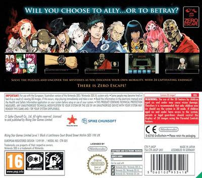 Zero Escape - Virtue's Last Reward 3DS backM (AKGP)