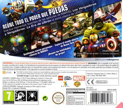 LEGO Marvel's Avengers 3DS backM (ALEX)