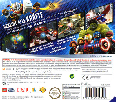 LEGO Marvel's Avengers 3DS backM (ALEY)