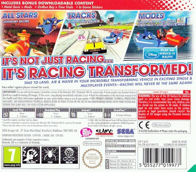 Sonic & All-Stars Racing Transformed 3DS backM (ALLP)