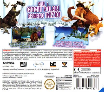 L'Era Glaciale 4 - Continenti alla Deriva - Giochi Polari 3DS backM (AQLI)