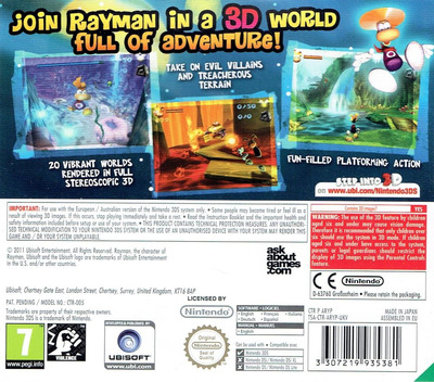 Rayman 3D 3DS backM (ARYP)