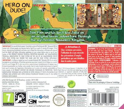 Adventure Time - The Secret of the Nameless Kingdom 3DS backM (AVTP)