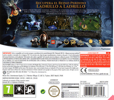 LEGO The Hobbit 3DS backM (BLHX)