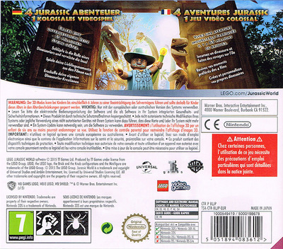 LEGO Jurassic World 3DS backM (BLJP)