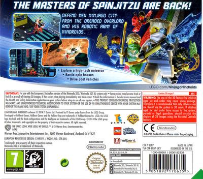 LEGO Ninjago - Nindroids 3DS backM (BLNP)