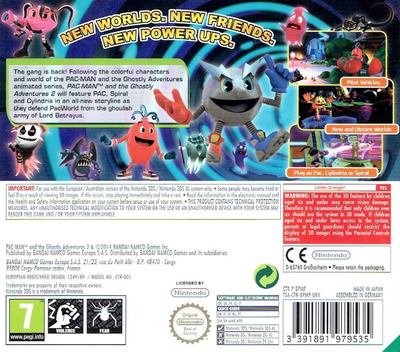 Pac-Man and the Ghostly Adventures 2 3DS backM (BPMP)