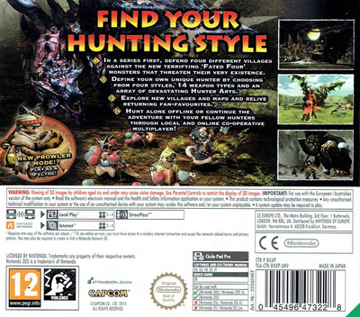Monster Hunter Generations 3DS backM (BXXP)