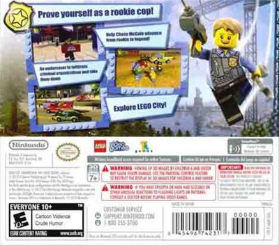LEGO City Undercover - The Chase Begins 3DS backM (AA8E)