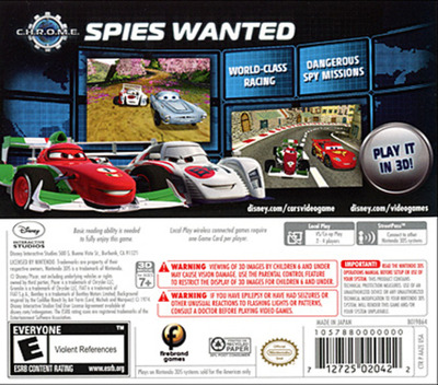 Cars 2 3DS backM (AAZE)