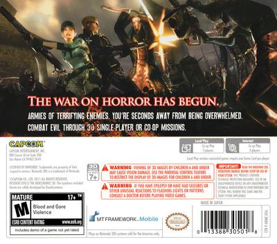 Resident Evil - The Mercenaries 3D 3DS backM (ABME)