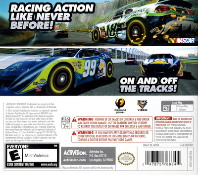 NASCAR Unleashed 3DS backM (AC9E)