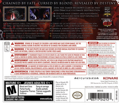 Castlevania - Lords of Shadow - Mirror of Fate 3DS backM (ACFE)