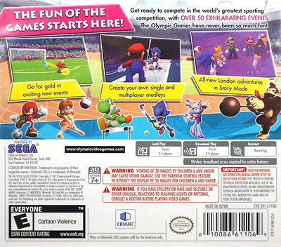 Mario & Sonic at the London 2012 Olympic Games 3DS backM (ACME)