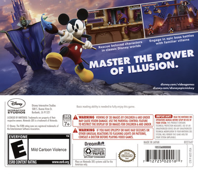 Disney Epic Mickey - Power of Illusion 3DS backM (AECE)
