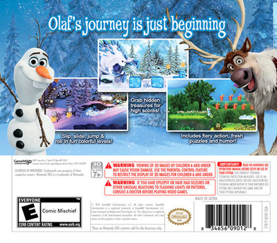 Disney Frozen - Olaf's Quest 3DS backM (AEHE)