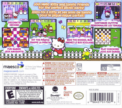 Hello Kitty Picnic with Sanrio Friends 3DS backM (AHLE)