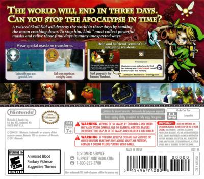 The Legend of Zelda - Majora's Mask 3D 3DS backM (AJRE)