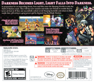 Kingdom Hearts 3D - Dream Drop Distance 3DS backM (AKHE)