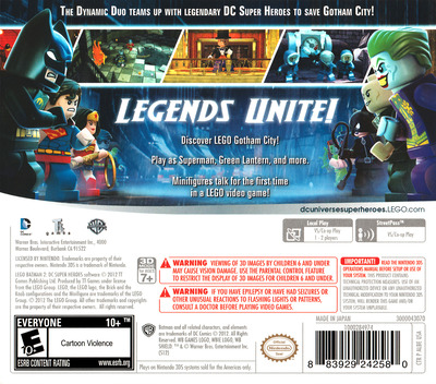 LEGO Batman 2 - DC Super Heroes 3DS backM (ALBE)