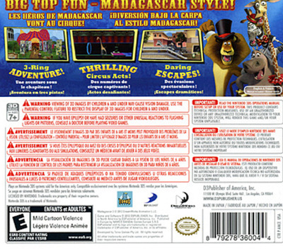 Madagascar 3 - The Video Game 3DS backM (AMCE)