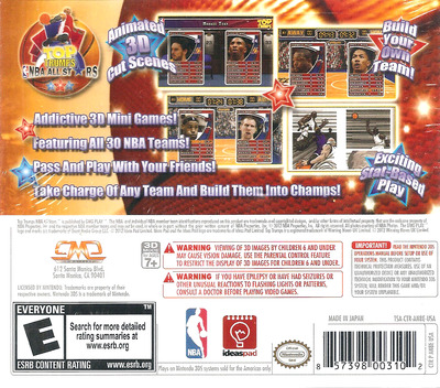 Top Trumps - NBA All Stars 3DS backM (AN8E)