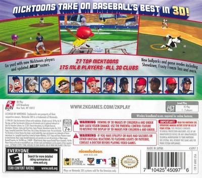 Nicktoons MLB 3D 3DS backM (ANKE)
