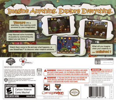Scribblenauts Unlimited 3DS backM (ASLE)