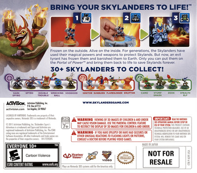 Skylanders - Spyro's Adventure 3DS backM (ASPE)