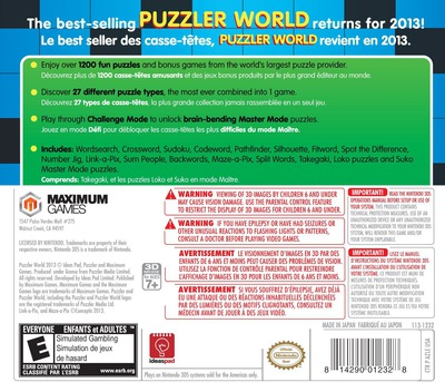 Puzzler World 2013 3DS backM (AZLE)
