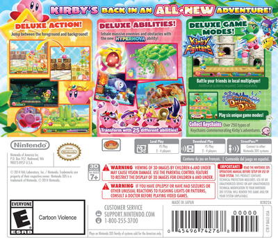 Kirby - Triple Deluxe 3DS backM (BALE)