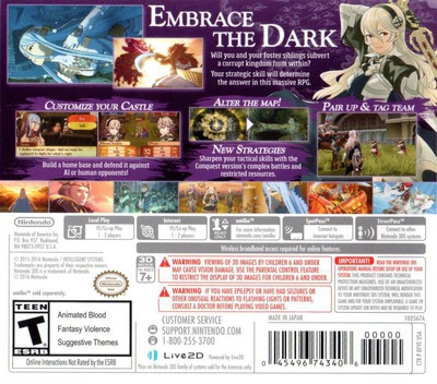 Fire Emblem Fates - Conquest 3DS backM (BFYE)