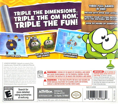 Cut the Rope - Triple Treat 3DS backM (BR3E)