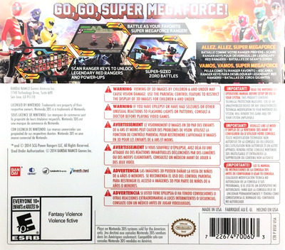 Power Rangers - Super Megaforce 3DS backM (BSSE)