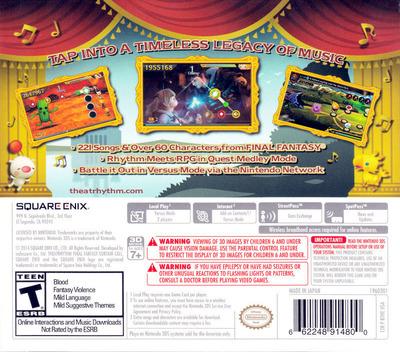 Theatrhythm Final Fantasy - Curtain Call 3DS backM (BTHE)