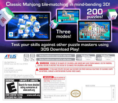 Mahjong Cub3D 3DS backMB (ASHE)
