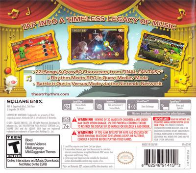 Theatrhythm Final Fantasy - Curtain Call 3DS backMB (BTHE)