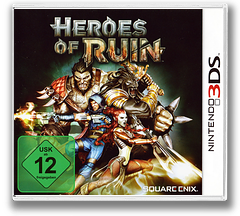Heroes of Ruin 3DS cover (AH6P)