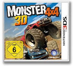 Monster 4x4 3D 3DS cover (AM4P)