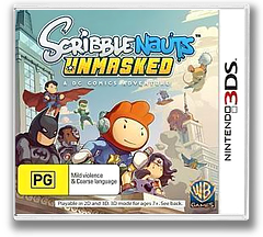 Scribblenauts Unmasked - A DC Comics Adventure 3DS cover (AD6P)