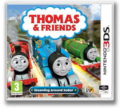 Thomas & Friends - Steaming around Sodor 3DS cover (BTBP)