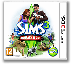 The Sims 3 - Pets pochette 3DS (AS4P)