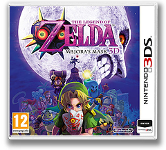 The Legend of Zelda - Majora's Mask 3D 3DS cover (AJRP)