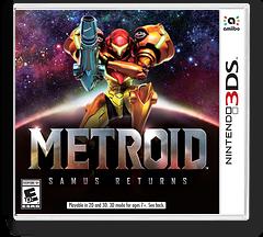 Metroid: Samus Returns 3DS cover (A9AE)