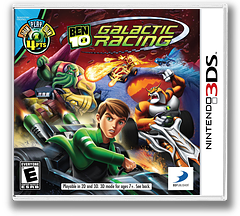 Ben 10 - Galactic Racing 3DS cover (ABNE)