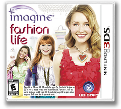 Imagine - Fashion Life 3DS cover (AF3E)